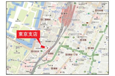 東京支店アクセスマップ